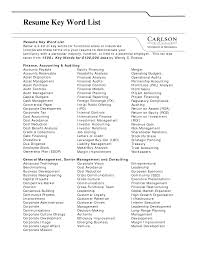 Resume Words List North Fourthwall Co Keywords For And Cover Letter