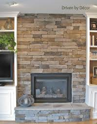 Perfect Basement Stone Veneer Fireplace Design