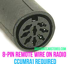 ccumra1 wired remote retention harness for clarion marine radios if the clarion radio has an 8 pin