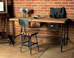 wood desks home office. Brown Wood Desk With Computer Dark Corner Leather Office And . Desks Home