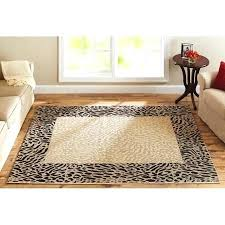 leopard print rug get ations a better homes and gardens animal print border rug animal print leopard print rug