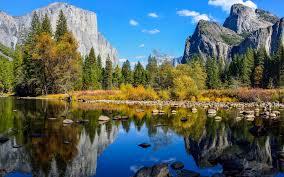 autumn mountains backgrounds. 3840x2400 Wallpaper Yosemite National Park, Lake, Rocks, Mountains, Autumn, Nature Autumn Mountains Backgrounds O