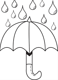 Small Picture Umbrella Day Coloring Pages Umbrella With Raindrops Coloring