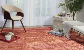 nourison silk shadows flame hand knotted 8x10 rug room shot