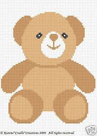 Teddy Bear Chart Details About Teddy Bear Color Graph Chart Baby Afghan Pattern Easy