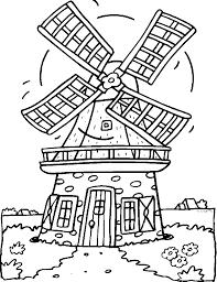 Kleurplaat Molen Gr 12 Nederland Kleurplaten Windmolens En
