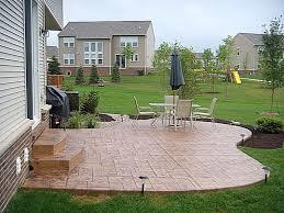 Backyard Concrete Designs Magnificent Patio Charming Backyard Concrete Patio Designs Cement Patios Ideas