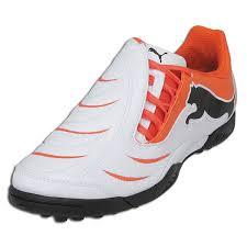 puma indoor soccer shoes. puma powercat 3.10 junior turf soccer shoes (white/orange/black) indoor h