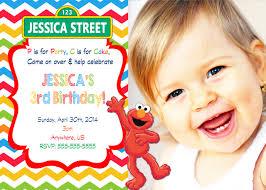 full size of templateprintable sesame street st birthday custom invitations with high definition im f