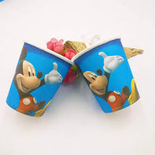 <b>10pcs</b>/set <b>Mickey</b> Mouse Party Decoration Disposable Tableware ...