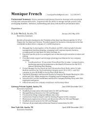 Executive Assistant Resume French Executive Assistant Resume French New Resume In French