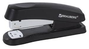 <b>BRAUBERG Степлер Standard+</b> для скоб <b>№24/6</b>, 26/6 — купить по ...