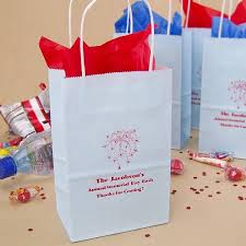 5 x 3 x 8 personalized petite paper party favor bags with handles