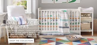 Nursery furniture for small spaces Organization Diy Small Spaces Big Ideas Pottery Barn Kids Small Spaces Pottery Barn Kids