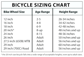 Bike Wheel Size Chart Age Small Picture Frame Sizes Ohneat Co