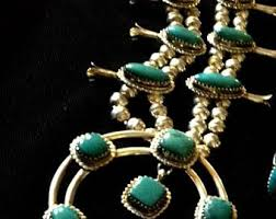 necklace signed kathleen chavez squash blossom navajo 925 sterling silver necklace turquoise and silver