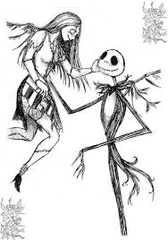 The Nightmare Before Christmas Coloring Pages Printable Lineart For