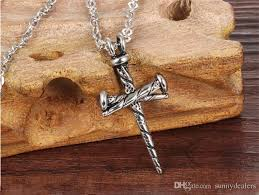 whole whole punk titanium nail cross pendant hip hop designer jewelry choker iced out chains mens stainless steel jewelry mens necklace lockets