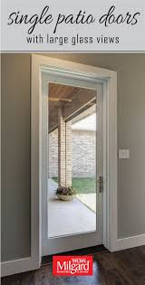 single patio door glass doors patio