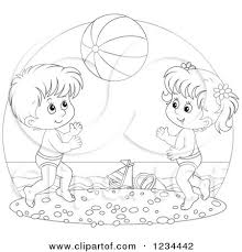 kids at the beach clipart black and white. Plain Beach Views 331 Downloads 125 File Type  Throughout Kids At The Beach Clipart Black And White