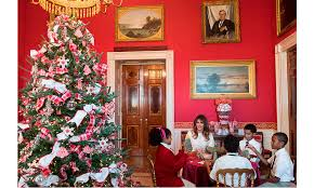 Candy Cane House Decorations Melania Trump's White House Christmas decor A white forest candy 74