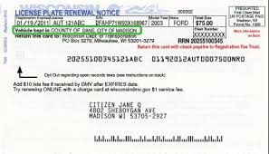 county vehicle registration fee