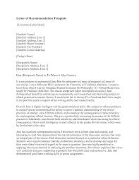 letter of recommendation templates recommendation letter  sample