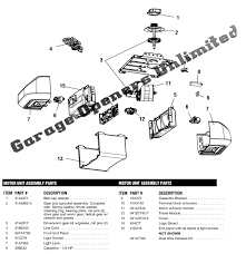 liftmaster garage door opener parts. Liftmaster 8355 Replacement Parts Garage Door Opener A