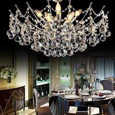 modern crystal chandelier light fixture chrome finish width 40cm 50c 65cm and 80cm free