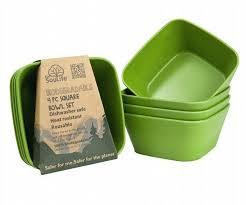 Набор тарелок Eco SouLife - SQUARE BOWL SET 4 pcs, <b>13см</b> ...