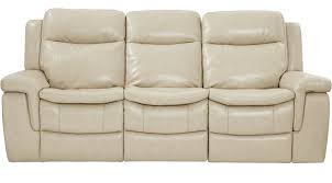 milano stone leather reclining sofa