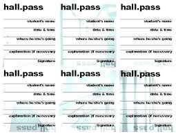 Student Hall Pass Hall Pass Template Best Of Student Resume Templates Parking