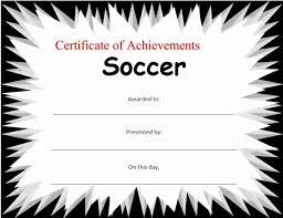 Soccer Certificate Templates For Word Report Card Template Word Elegant Soccer Certificate Stationary