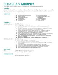 Aircraft Technician Resume Resume For Study