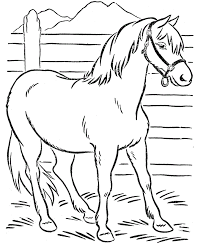 Small Picture Awesome Horse Coloring Pages Toddlers Pictures New Printable