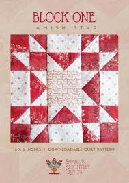 Simply Red BOM - Sharon Keightley Quilts & Simply Red Quilt BOM Block One Adamdwight.com