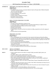 Head Teacher Resume Preschool Teacher Resume Samples Velvet Jobs 15