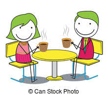drinking coffee clipart. Brilliant Clipart Couple Sitting Cafe Table Drink Coffee Romantic Love Throughout Drinking Coffee Clipart W