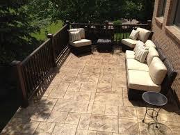 lovable concrete patio railing ideas