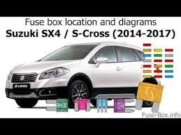 fuse box location and diagrams suzuki sx4 s cross 2014 2017 fuse box location and diagrams suzuki sx4 s cross 2014 2017
