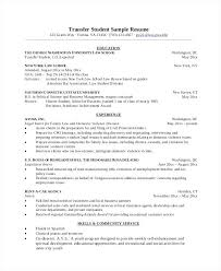 Sample Graduate Resume Transfer Student Sample Resume Sample Resume