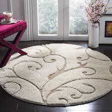 safavieh florida scrollwork elegance cream beige rug 6 7 x 6