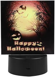 PRETYZOOM <b>Halloween</b> Night Light LED Bedside Nightlight Happy ...