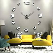 office wall clocks. Simple Office Digital Office Wall Clocks Digital Large Clock Inspiring Decor  Inch Silver Grey Sofa In Office Wall Clocks R