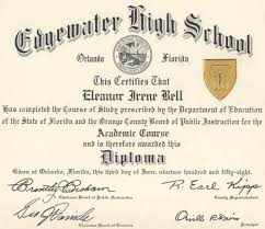 high school diploma template seal gse bookbinder co edgewater high school diploma 1958 orlando memory