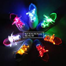 Dây giày vải gắn đèn led phát sáng dùng pin 1m2 (Cả nam và nữ)