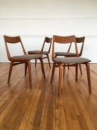 set of 4 vine midcentury danish teak boomerang dining chairs erik christensen by bbbespoke on etsy