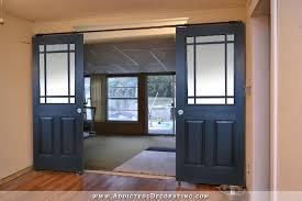 interior barn door with glass. Black Rolling Barn Door Style Doors With Six Panes Of Glass Unequal Size On Top Interior R