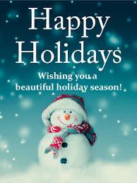 Holidays Snowman Cheerful Snowman Happy Holidays Card Birthday Greeting Cards By