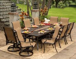 Nice Outdoor Dining Sets with Swivel Chairs bomelconsultcom
